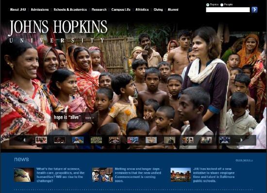 One of the top ten university websites