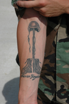One of the top ten military tattoo designs