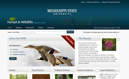 One of the top ten university websites