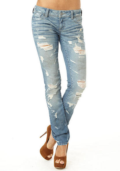 destructed jeans from Alloy