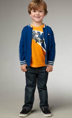little boy dressed for school