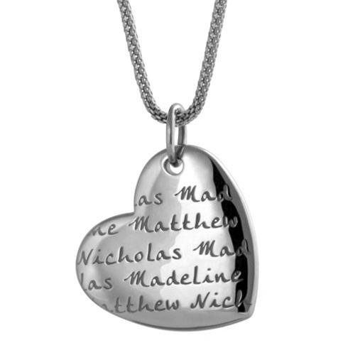 personalize heart pendant