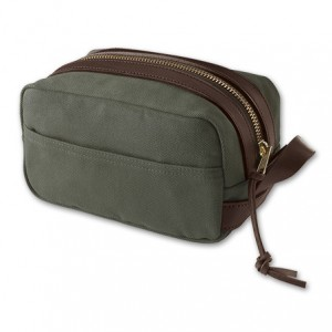 Mens black dopp kit from Filson