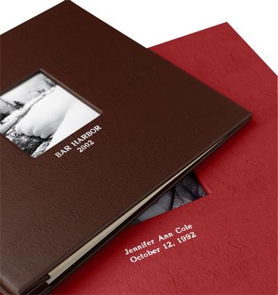 Elegant leather scrapbooks