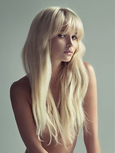 long blond hair