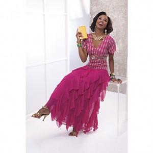 beaded pink dress