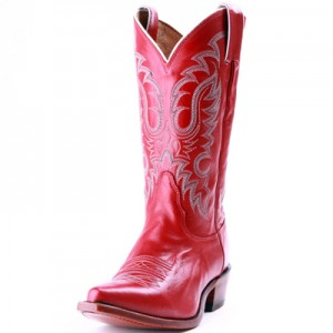 red ladies cowgirl boots