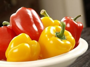 red yellow peppers