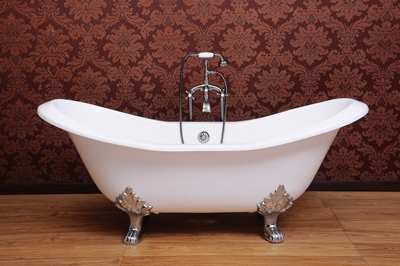 DECOR SUITE Cast iron clawfoot tub