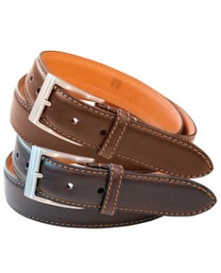 three leather belts