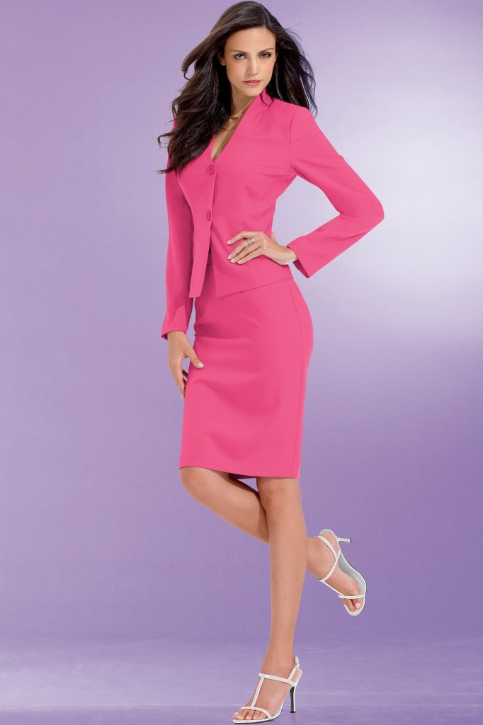 womens pink dress suit
