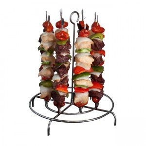 Verticle kabob holder from the Best of Feeding a Crowd