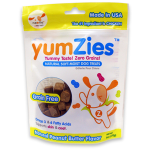 Yumzies grain free peanut butter dog treats
