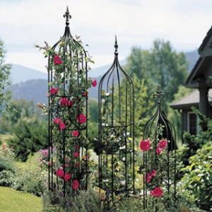 best of flower beds trellis