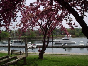 boats on the water in mararoneck new york