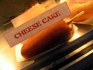 Deep Fried Cheesecake on a Stick