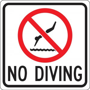 dive with caution