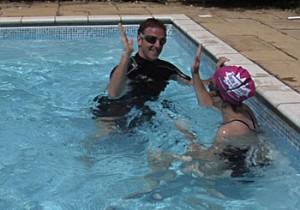 swim with buddy