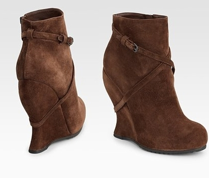 chunky wedge heels