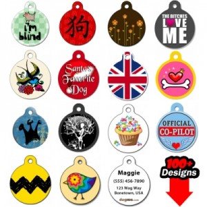 designer dog tags