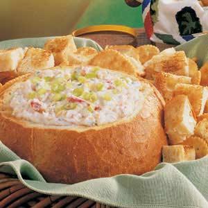 Hot Crab Dip in a Bread Bowl
