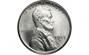 1943 World War II Silver Penny