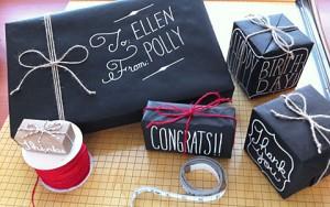 top 10 unusual Christmas gift wrap ideas blackboard paper