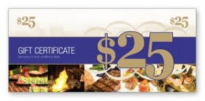 top 10 easy gifts restaurant gift certificates