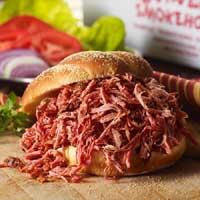 Pulled Pork Barbeque Sandwich