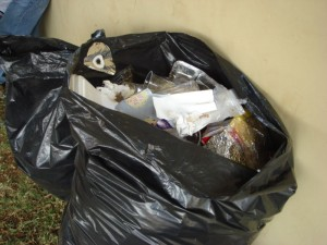 trash bag contents