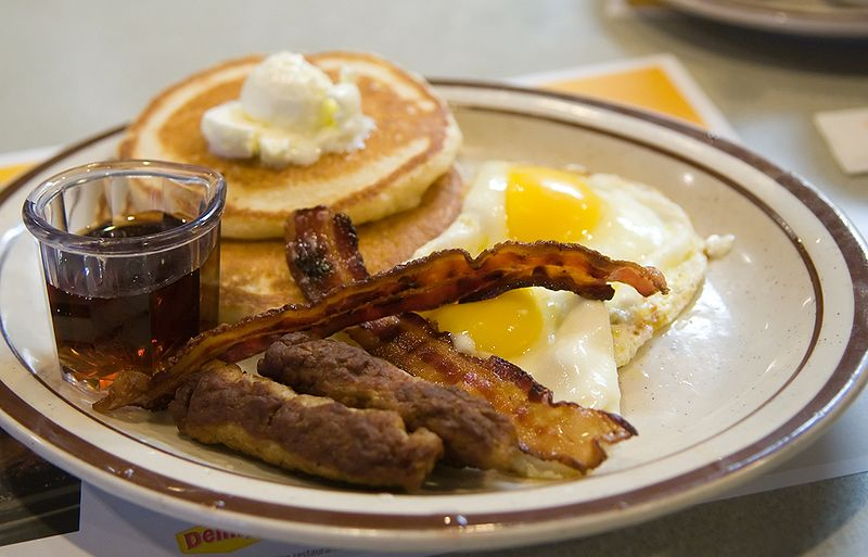 Pancakes, Bacon and Eggs