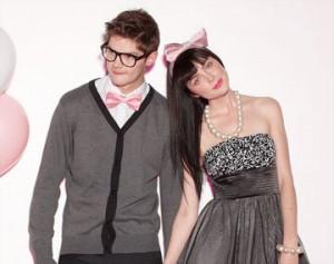 couple in vintage formal wear