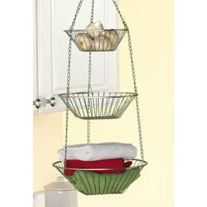 Hanging wire baskets