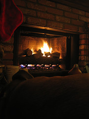 In Front of a Fire