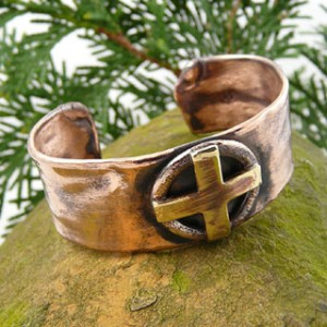 Copper cuff bracelets from Modern Artisans