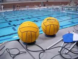 water polo balls and net