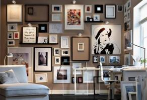 creative places to hang art