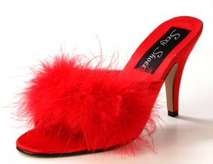 red mule style shoes from Sexy Shoes