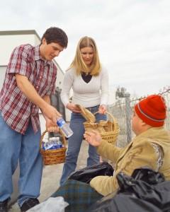 people helping homeless