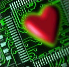 valentine on computer chip