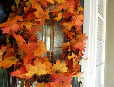 DIY autumn wreath