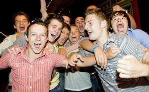 teens partying