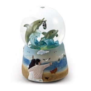 Dolphin water globe