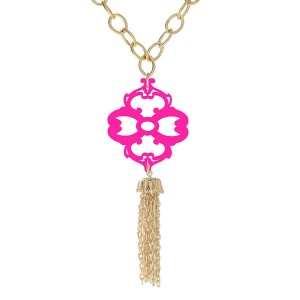 tassel necklace at Moon and Lola