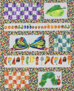 Kids' striped graphic quilt
