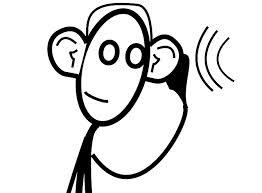 person listening