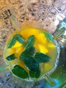 Minty Rum and Mango Slushy