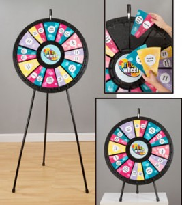 Prize wheel for trade show