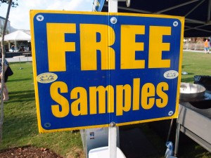 free samples sign