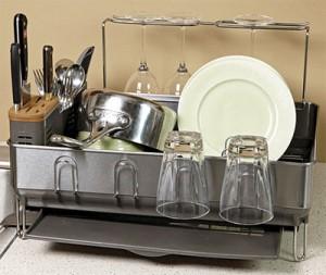 Sturdy dish rack